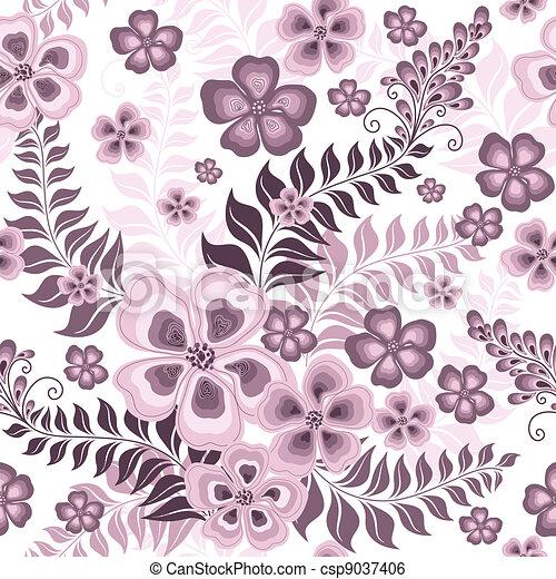 Seamless pink pattern - csp9037406