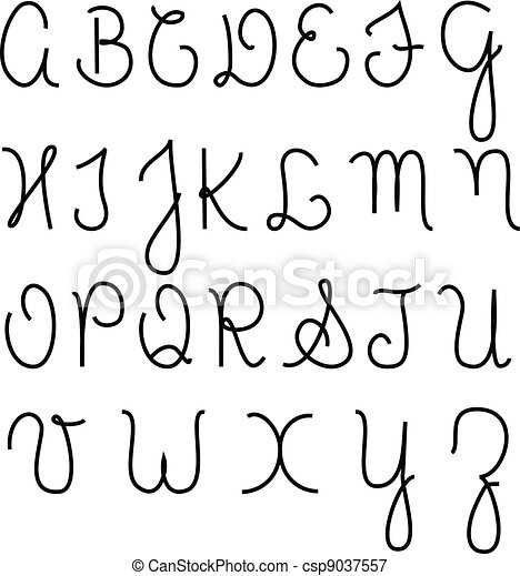 Worksheets Alphabet In Cursive Capital Letters mastering calligraphy how to write in cursive script capital vectors illustration of alphabet letters