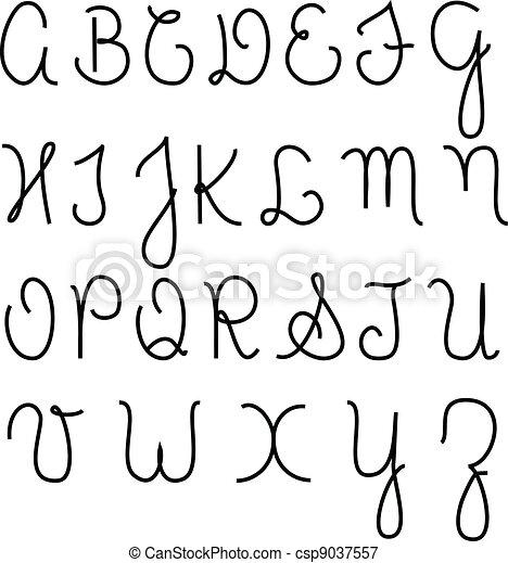 Cursive alphabet - csp9037557