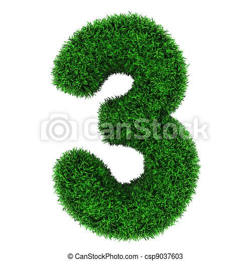Grass number 3 - csp9037603