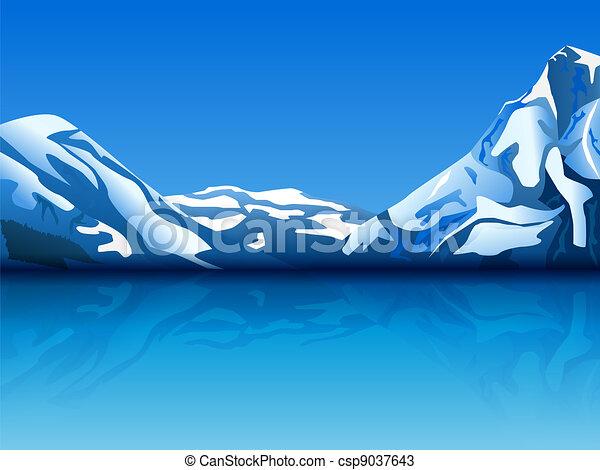 snowy mountains - csp9037643