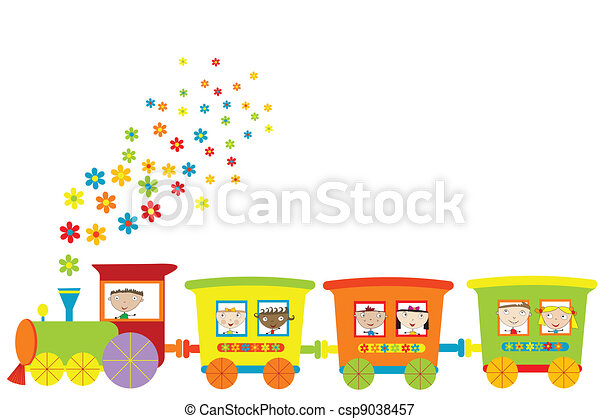 Train with happy children - csp9038457