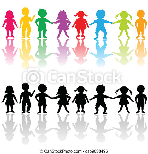 Clip Art Vector of Group of children csp9038496 - Search Clipart ...