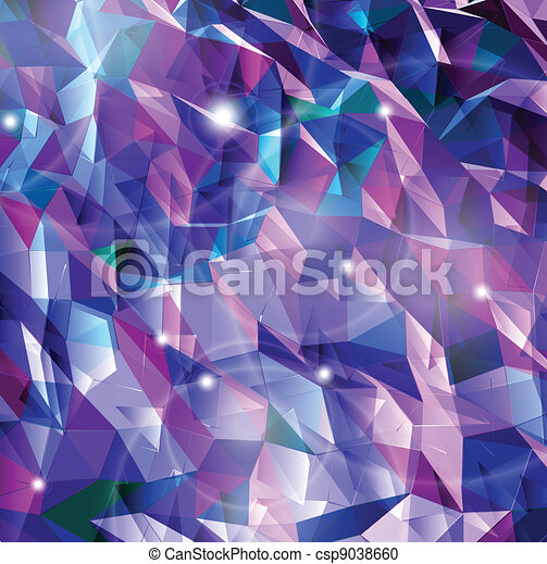 Abstract background. Combination of triangle. Vector - csp9038660