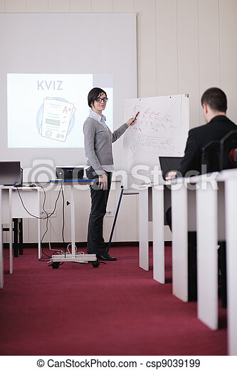 business people group on seminar - csp9039199