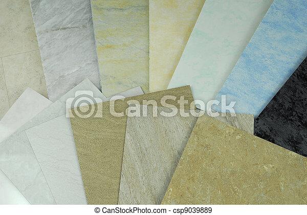 plástico, Mármol, paneles, muestras - csp9039889