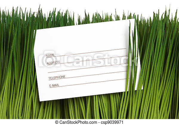 Address Book and green grass - csp9039971