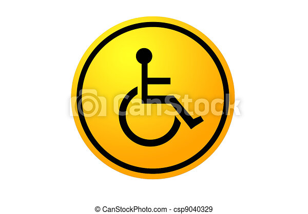 disabled and handicap icon sign - csp9040329