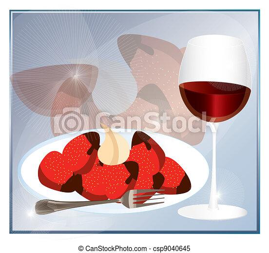 dessert background  - csp9040645