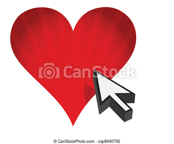 heart and arrow - Internet dating  - csp9040792