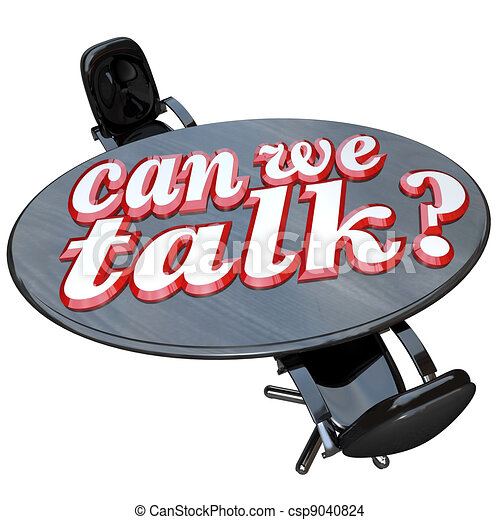 Can We Talk Conference Table Two Chairs Communication - csp9040824