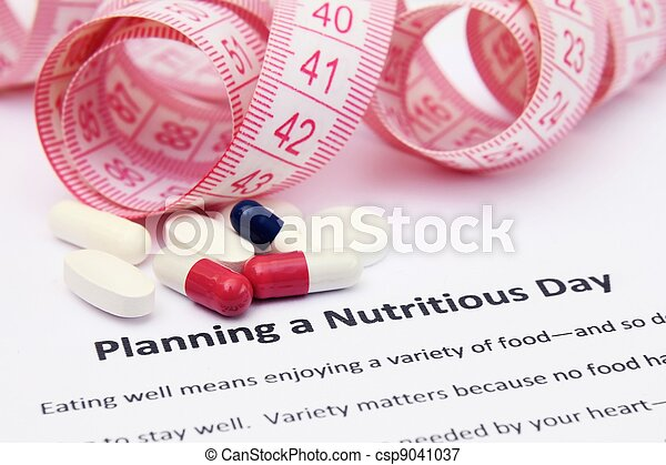 Planning a nutritious day - csp9041037