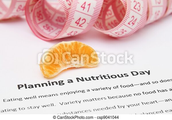 Planning a nutritious day - csp9041044