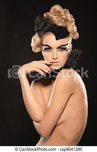 beau, femme nue, jeune - csp9041280