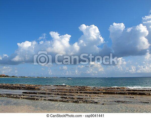 Cumulus Clouds Over Cayman - csp9041441