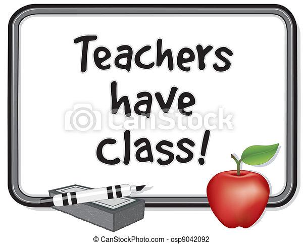 Teachers have Class! - csp9042092