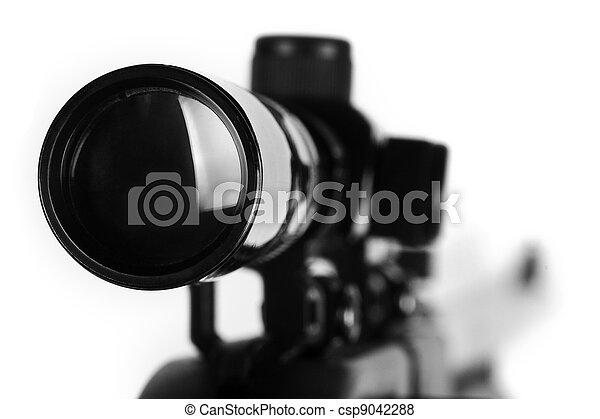 Sniper riffle detail - csp9042288