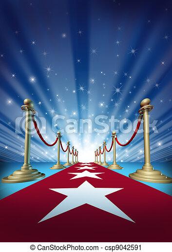 Red Carpet To Movie Stars - csp9042591