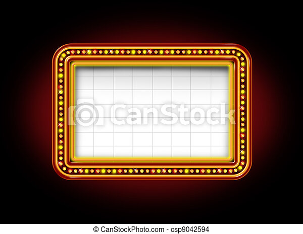 marquee, teatro, sinal - csp9042594