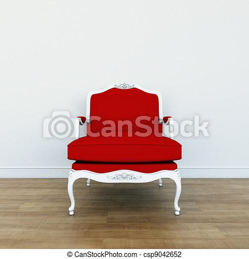 Clip art de tradicional sillas rojo tapicer a - Tapiceria de sillas precios ...