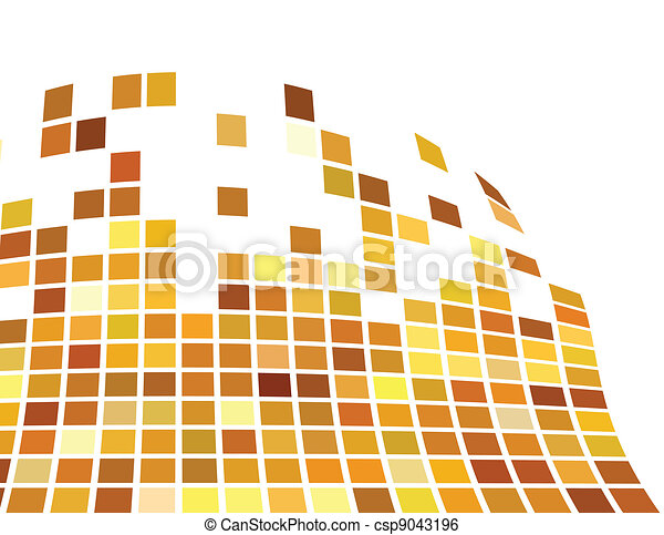 the vector golden abstract background - csp9043196