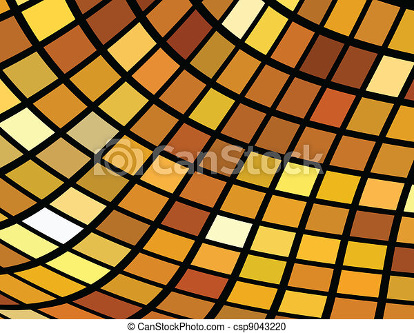 the vector golden abstract background - csp9043220