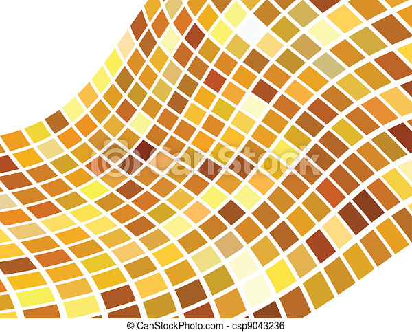 the vector golden abstract background - csp9043236