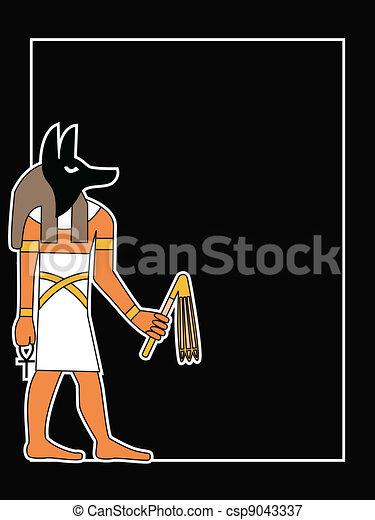 the vector egyptian god - csp9043337