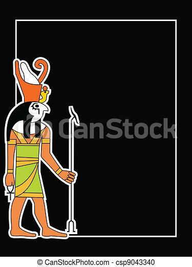 the vector egyptian god - csp9043340