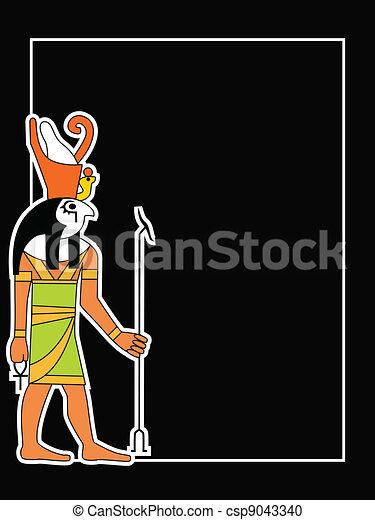 the vector egyptian god - csp9043340