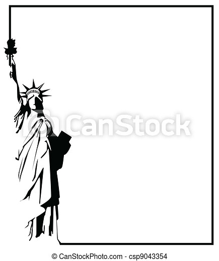 the vector Statue of Liberty eps 8 - csp9043354