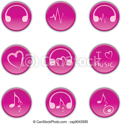 Buttons music - csp9043585