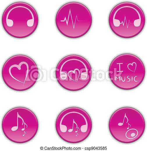 Buttons music - csp9043585