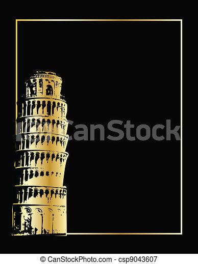 the vector pisa tower eps 8 - csp9043607