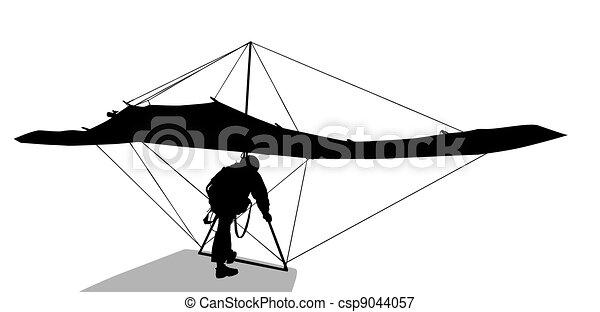 Hang glider   - csp9044057
