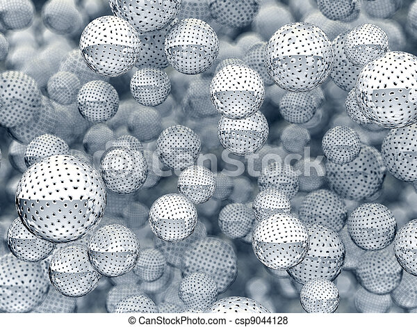 Metallic sieve orbs with holes - csp9044128