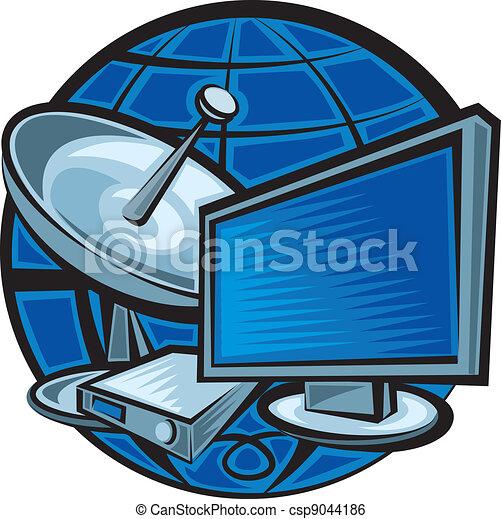 satellite television - csp9044186