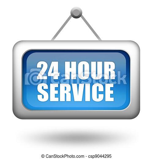 24 hour service - csp9044295