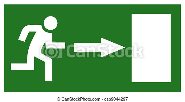 Emergency exit sign - csp9044297