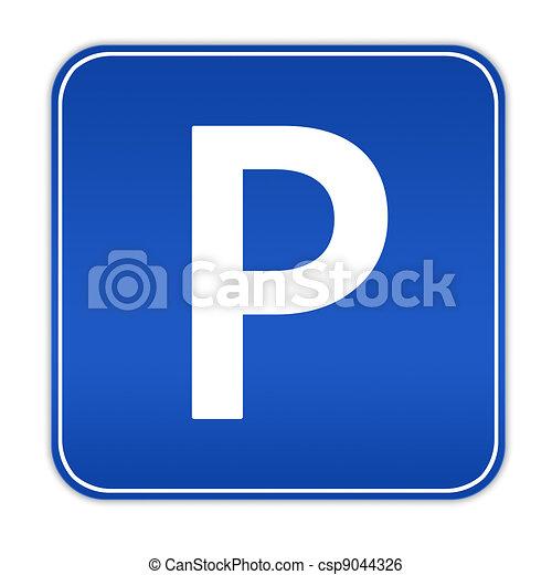 Parking sign - csp9044326