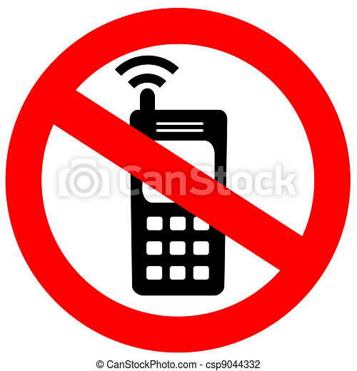 No cell phone sign - csp9044332