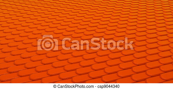 Orange Leather stitched background with scales texture - csp9044340