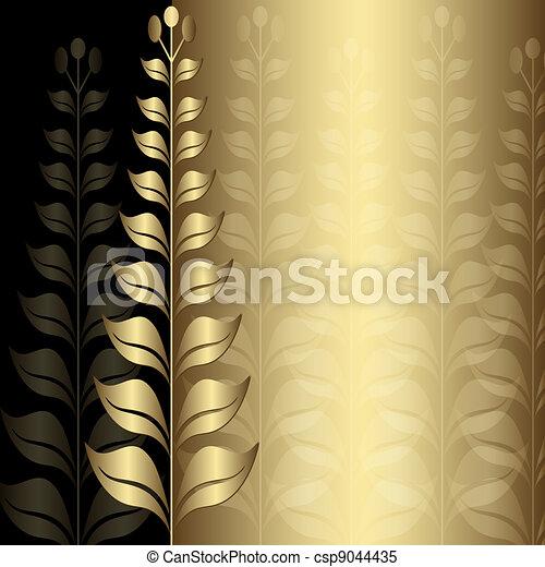 Vintage gold elegance frame - csp9044435