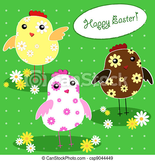 background with holiday Easter - csp9044449