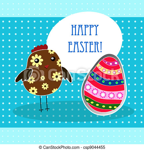 background with holiday Easter - csp9044455