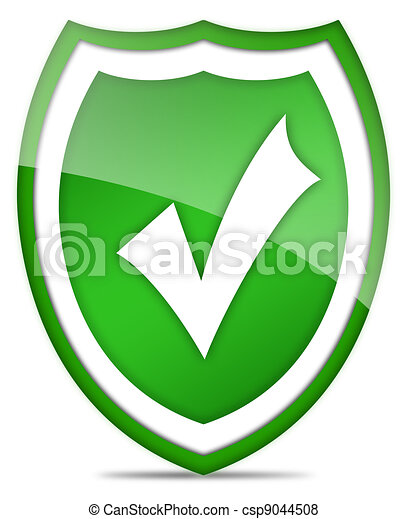 Shield with tick - csp9044508