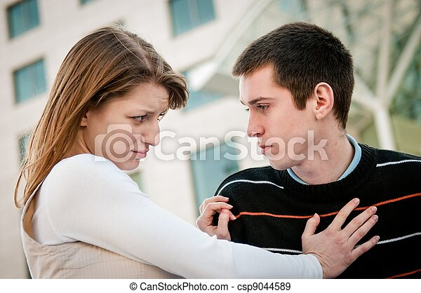 Relationship problem - couple portrait - csp9044589