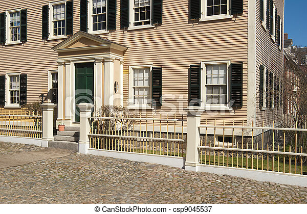 Old colonial new england home - csp9045537