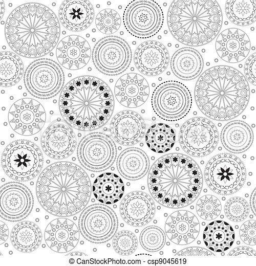 Fancy with circle pattern - csp9045619