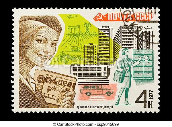 soviet urban life - csp9045699